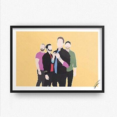 Coldplay INSPIRED WALL ART Print Poster A4 A3 chris martin clocks fix you