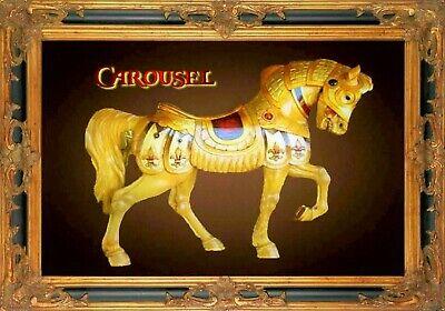 MAGNET CAROUSEL Horses #2 White facing right