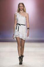 $1425 auth Runway ISABEL MARANT Quimper Cotton-voile Mini WHITE Dress 38/6 SALE