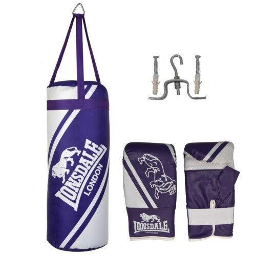 Lonsdale Club Boxing Training Junior 2FT Punch Bag and Glove Set