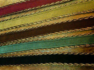 TRIM-TAPE-with-ANTIQUE-GOLD-TWISTED-EDGE-1-2-034-1-yard-Made-in-France