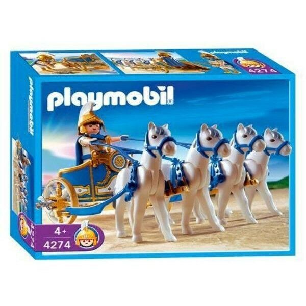 Playmobil 4274 Roman Legionnaires 4 Horse Chariot NEW