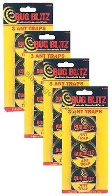 12 Pack Anti Stop Baited Glue Ant Traps Kill Killer Nest ANT KILLER GEL TRAPS