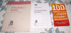 a vocabulary builder and teachers key book 4 and 100 words