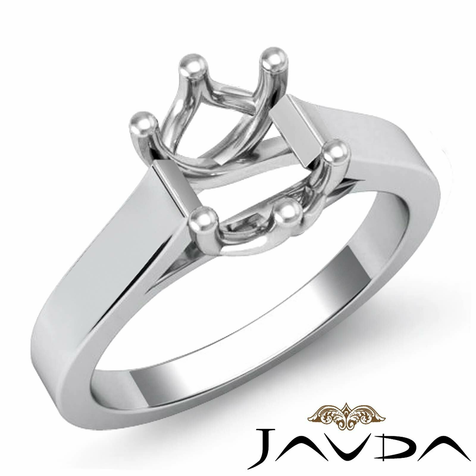 4.5g. Classic 6 Prong Cathedral Solitaire Trellis Engagement Ring Set Semi Mount
