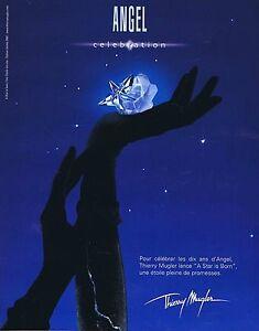 PUBLICITE ADVERTISING 075 2002  THIERRY MUGLER  célébration 10 ans parfum ANGEL