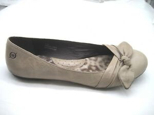 Born-9-5M-beige-brown-bow-ballet-ballerina-flats-womens-ladies-shoes-B59411