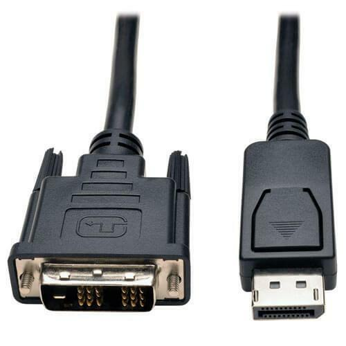 Single-Link Adapter with Latches M//M DisplayPort to DVI-D Cable Adapter 6 ft