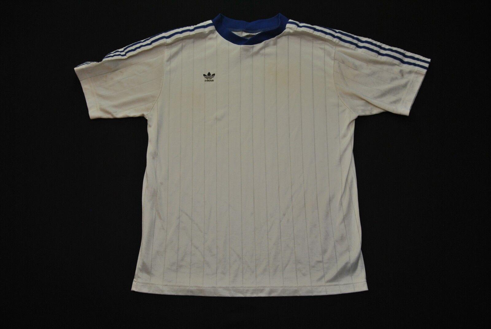 VTG Adidas Soccer Jersey Men's L 80s Large White