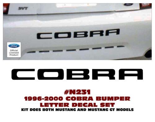 COBRA GE-N231 1996-2000 FORD MUSTANG LICENSED REAR BUMPER LETTER DECAL KIT