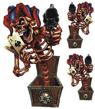 Aufkleber Set Clown aus der Kiste Jester out of Box Sticker 16x9cm Ass Revolver