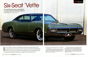 1968 BUICK RIVIERA 430/360-HP ~ NICE 6-PAGE ARTICLE / AD