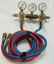 Uniweld Nitrogen Regulator Withhose 3 Guages Pre Owned Made In Usa