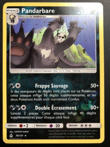 Carte Pokemon PANDARBARE 78//131 Rare REVERSE Soleil et Lune 6 SL6 FR NEUF