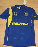 Sri Lanka 2015 ICC World Cup squad signed shirt + COA