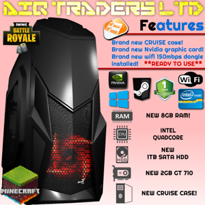ULTRA-FAST-Quad-Core-Gaming-PC-Tower-WIFI-amp-8GB-1TB-HDD-amp-Win-10-2GB-GRAPHICS