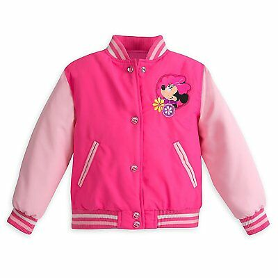 Disney Store Minnie Mouse Clubhouse Rain Jacket//Raincoat Size Small 5//6 5T