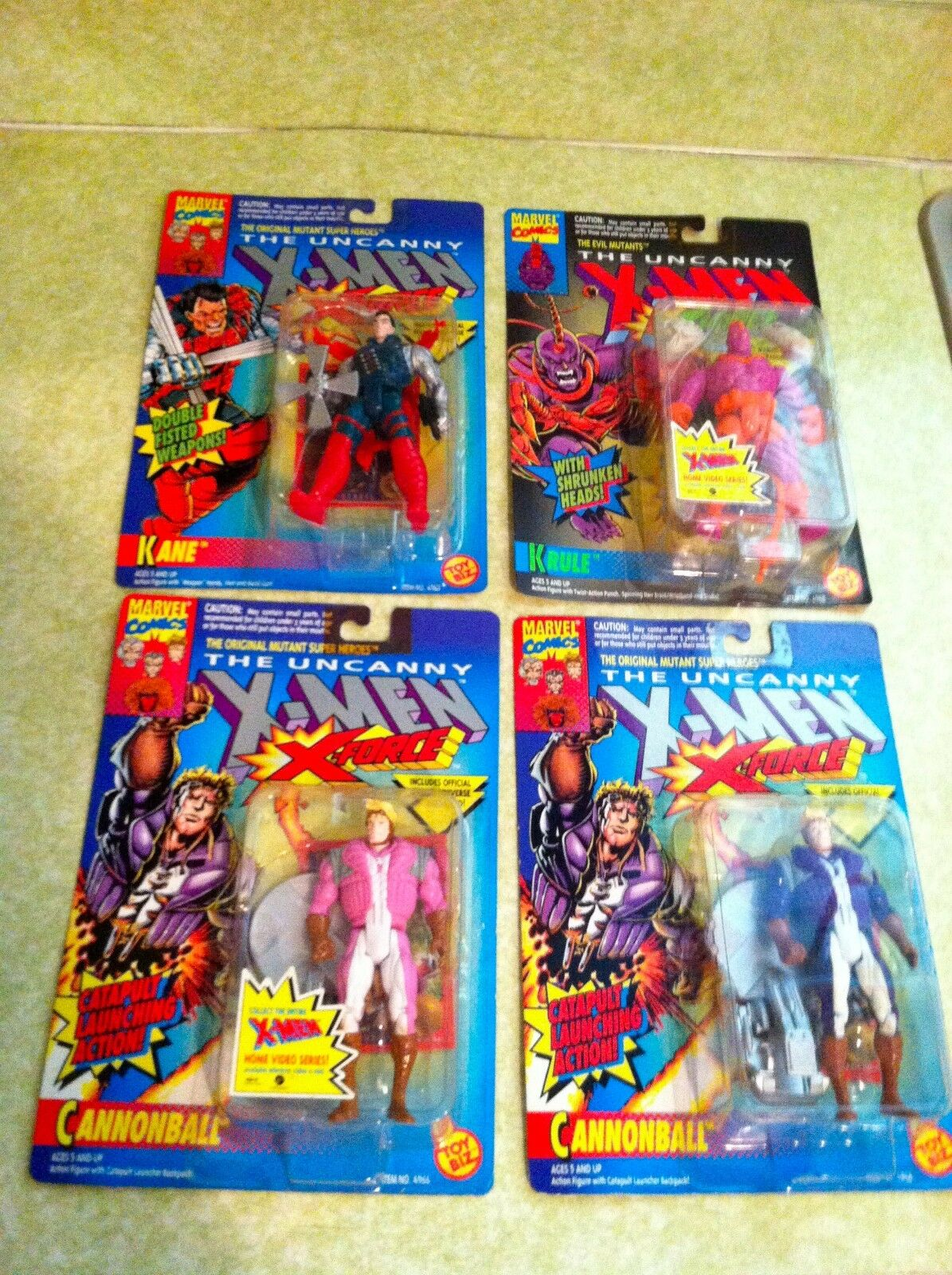 TOY BIZ X men X force (set of 4) (make offer 4 1) pink cannonball, kane, krule