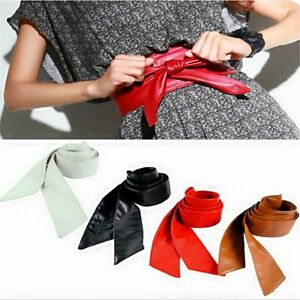 Women-Soft-Leather-Wide-Waist-Belts-Bow-for-Dress-Clothes-Accessories-C