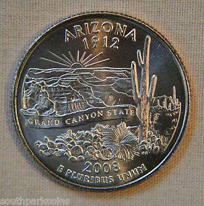 Statehood US Quarter 2008-P  BU Mint State ARIZONA