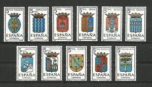 Espana-1965-lote-de-11-escudos-nuevos-sin-senal-fijasellos-MNH