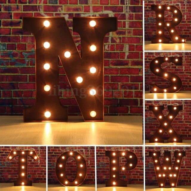12 Marquee A To Z Alphabet Letters Led Light Up Sign Standing Hanging Xmas