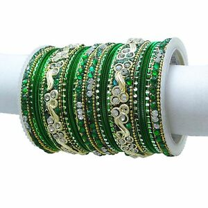 Traditional Indian Bangles Set Ethnic Kada Bracelets Wedding Jewellery 2*10 Engagement & Wedding