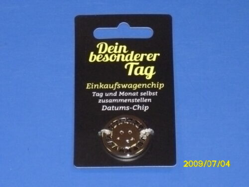 """und Einkaufswagenchip Schlüsselanhänger /""""Dein besonderer Tag/"""" zuzüglich Datums"""