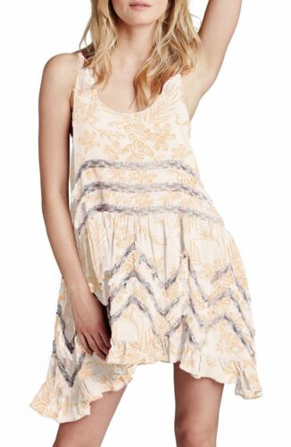 Free People Floral-Print Trapeze Dress cream combo ob405008