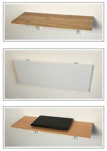 Klapptisch wand regal  Details zu Klappbares Wandregal Klapptisch 3 Farben 6 Größen Klappkonsole  Stahl weiß Board