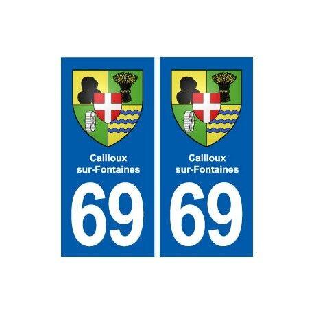 69 Cailloux-sur-Fontaines blason autocollant plaque stickers ville droits