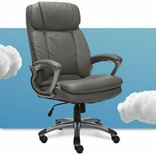Big Amp Tall Executive Office Chair High Back All Day Comfort Ergonomic Grey