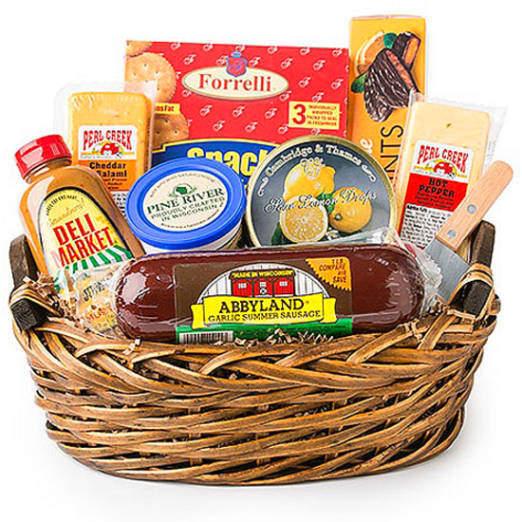 Deli Direct Wisconsin Cheese Sausage Medium Gift Basket 9 pc for sale online | eBay
