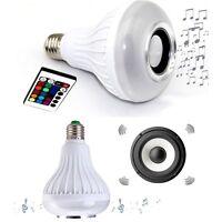 Led Lamp Smart Color Light Bulb Portable Bluetooth Music Sterro Speaker + Remote
