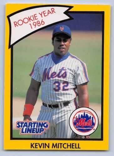Yellow Kenner Starting Lineup Card NEW YORK METS 1990   KEVIN MITCHELL