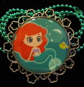 Mermaid-Ariel-Necklace-Princess-Handmade-Resin-Jewelry