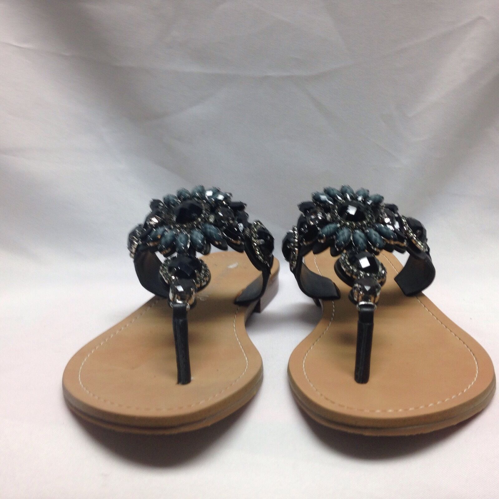 Ivanka Trump Palista Jewel Sandal  5.5 M nero Leather Leather Leather New w  Box 83b854