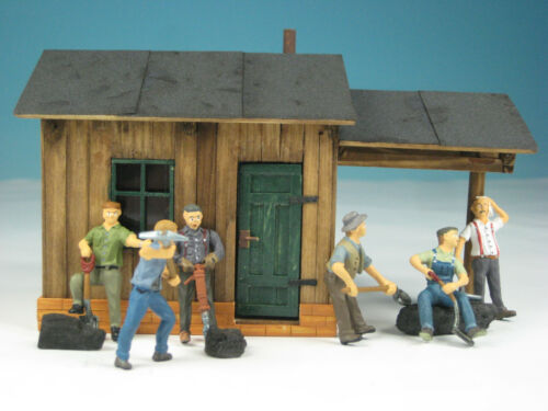 Straßenbautrupp mit 6 Arbeitern Bachmann Spur-0-Figuren WA2761