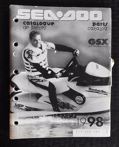 genuine 1998 sea doo gsx limited jet ski watercraft parts manual rh ebay co uk 1995 seadoo xp parts manual 2001 seadoo xp parts manual
