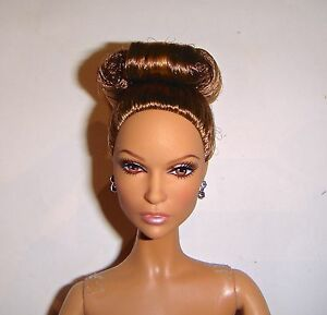 Details about Nude Barbie Brunette Updo Hairstyle Model Muse Nude Barbie  Doll jl8