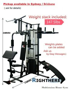 NEW-MULTI-STATION-HOME-GYM-EXERCISE-EQUIPMENT-DUMBBELL-FITNESS-BENCH