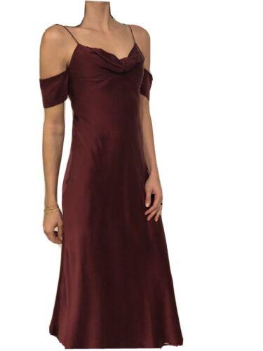 Zimmerman Size 0 Silk Burgundy Winde Slip Dress