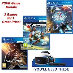 Playstation Vr Game Bundle Ps4 Psvr New Sealed Eve Valkyrie Rigs