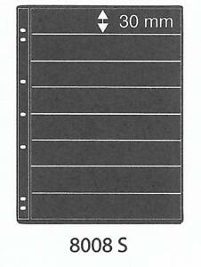 PRINZ-PRO-FIL-8-STRIP-BLACK-STAMP-ALBUM-STOCK-SHEETS-Pack-of-5-Ref-No-8008S
