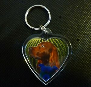 Irish-Setter-Red-Gift-Keyring-Dog-Key-Ring-heart-Birthday-Gift-Mothers-Day-Gift