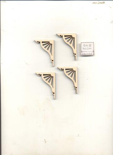 Brackets Porch Braces LD951 dollhouse 1//12 scale miniature USA GA wood 4pcs