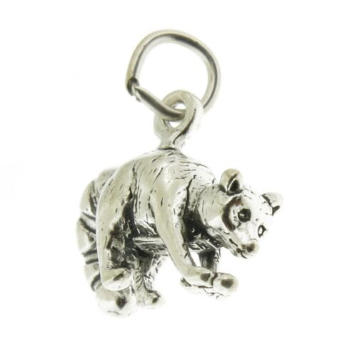 Argent Sterling 925 Racoon Charme Made in USA