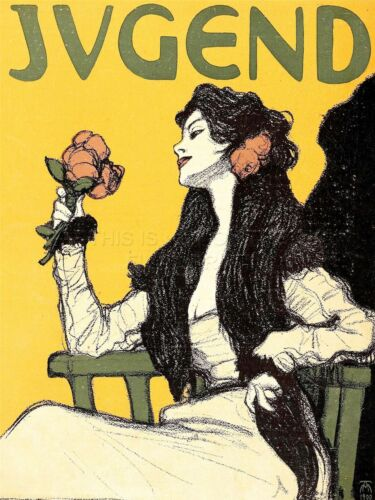 ART PRINT POSTER MAGAZINE JUGEND GERMANY WOMAN FLOWER ROSE NOFL0656