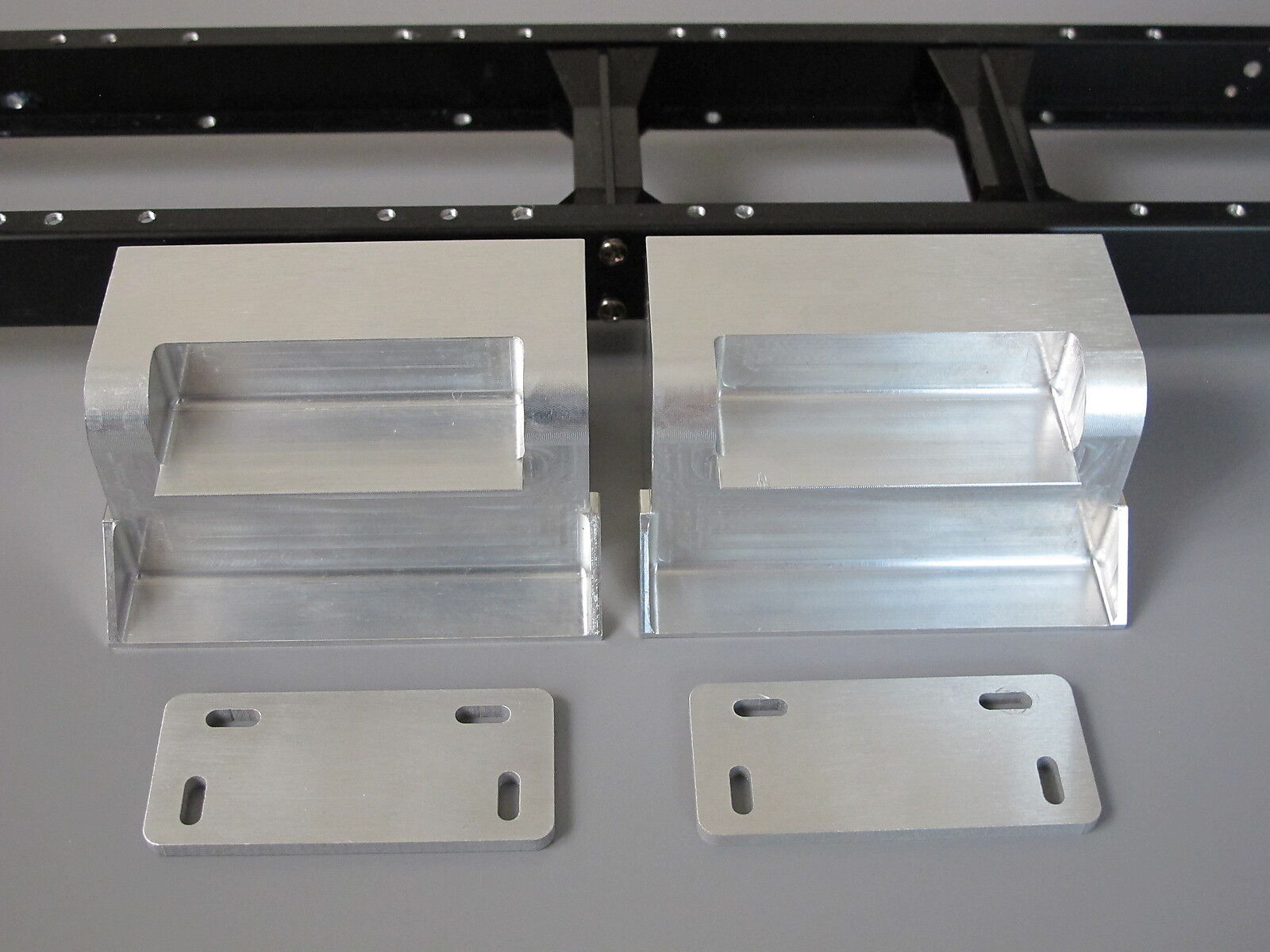 Pair Aluminum Side Step + Mount Tamiya R/C 1/14 King Grand Knight Hauler Aeromax