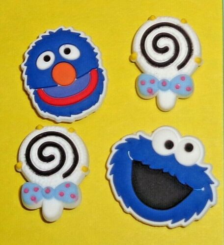 Sesame Shoe Charms Shoe Buttons Shoe Accessories Cake Toppers Too